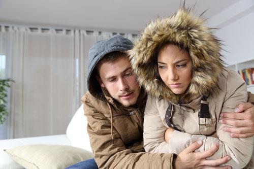 Freezing home